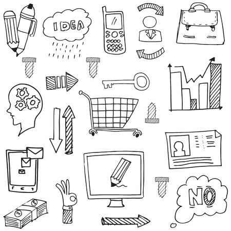 Doodle of business design vector art illustration