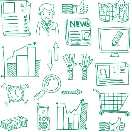 Doodle van de afbeelding uit het bedrijfsleven stock vector kunst illustratie