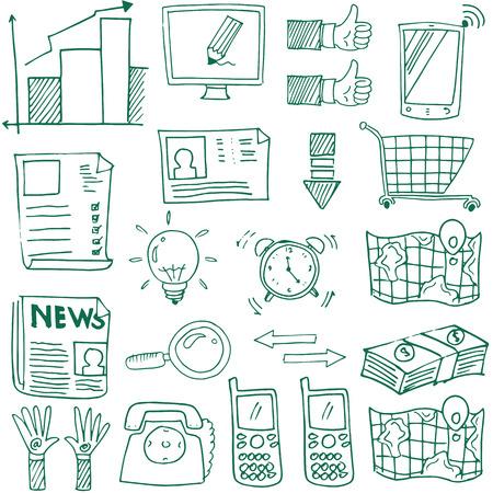 Doodle van het bedrijfsleven vector met de hand tekenen