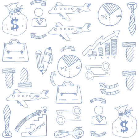 Doodle of business element image vector art illustration Фото со стока - 61330927