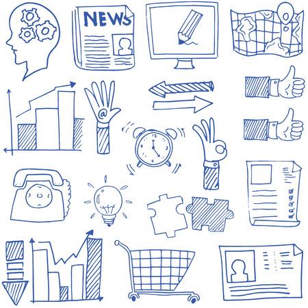 Doodle van de afbeelding zakelijke thema vector kunst illustratie Stock Illustratie