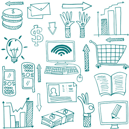 business image: Doodle of business image theme