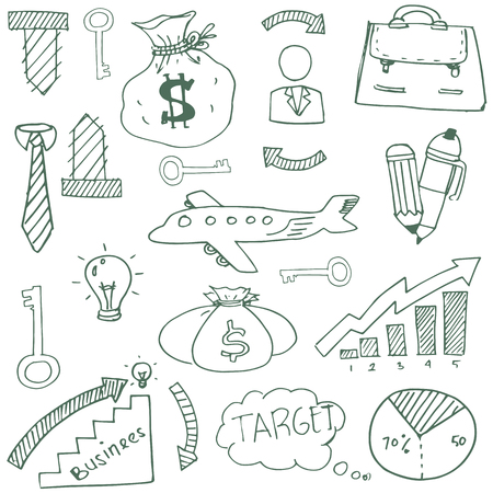 Doodle of business theme stock vector illustration