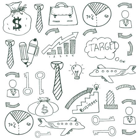 Doodle van zakelijke imago vector kunst stock collectie Stockfoto - 61331085