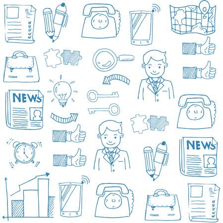 Doodle van de business design vector kunst