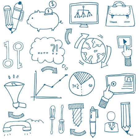 Doodle zakelijke imago van met de hand tekenen Stockfoto - 61331090