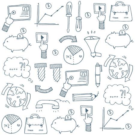 Doodle van de zakelijke thema voor voorraad