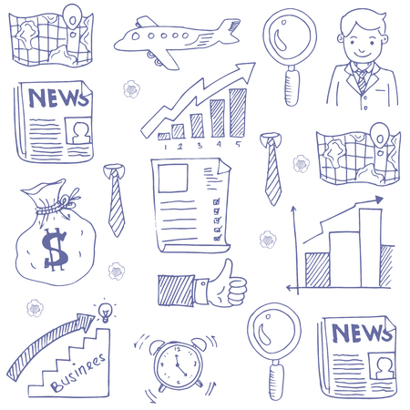 Doodle of business hand draw Stock Illustratie