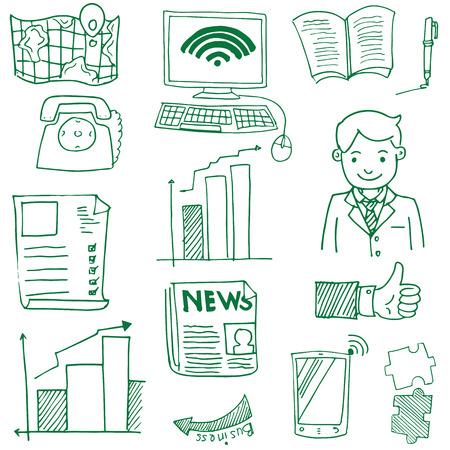 Doodle van zakelijke icon set Stockfoto - 61331104