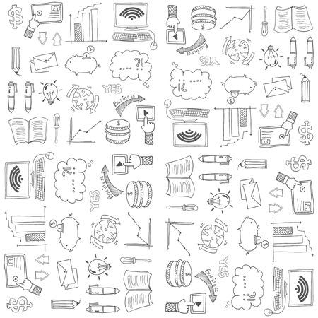 Doodle van zaken illustratie ontwerp Stock Illustratie