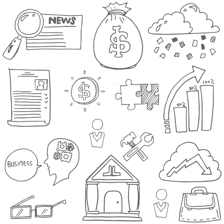 Doodle of business design stock collection vector art