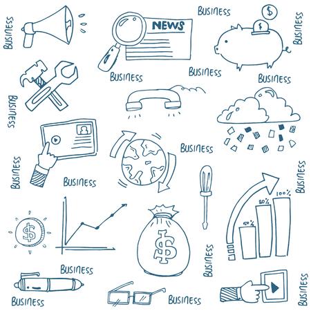 Doodle van de hand trekt bedrijf symbool vector illustratie
