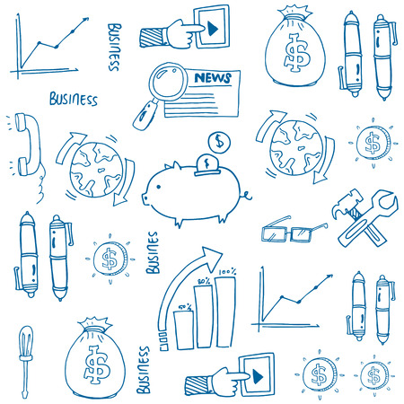 Doodle of business idea symbol stock collection