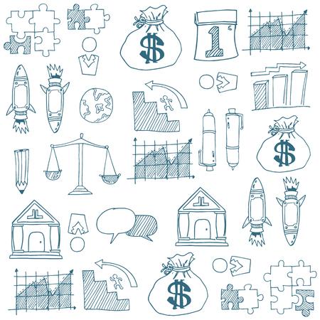 Doodle van de voorraad bedrijfssymbool