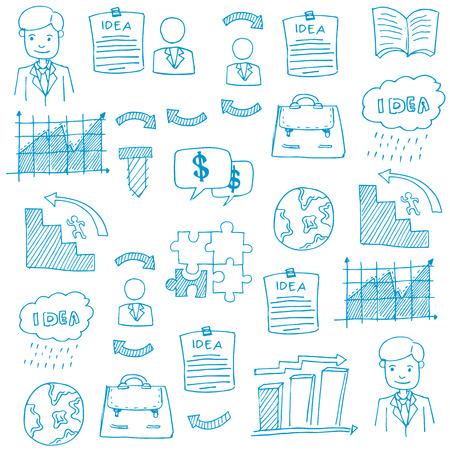 Doodle bedrijfszetels element vector kunst illustratie