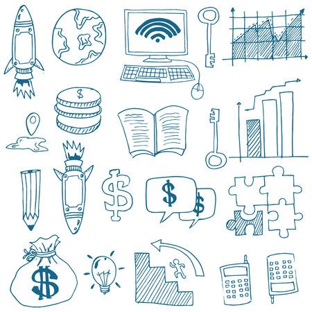 Doodle van zakelijke imago voorraad collectie Stockfoto - 61331254