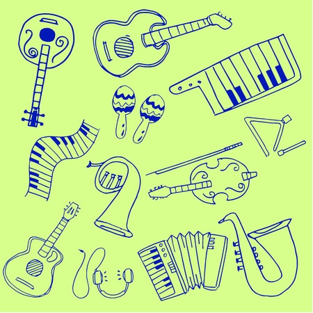 Object music set doodles