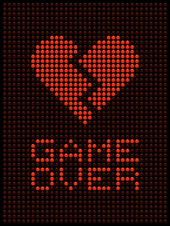 relationship breakup: Game Over Message in Red LED Lights