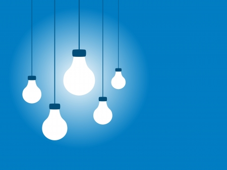 ambience: Lightbulbs on a blue background