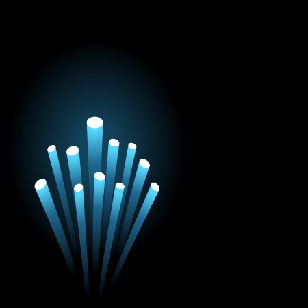 fibra ottica: Astratto Fibra ottica Wire Ends