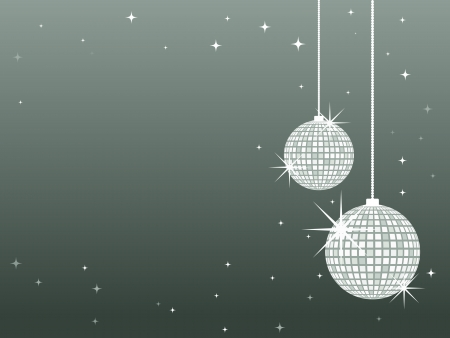 Christmas baubles with a silver glittery pattern Иллюстрация