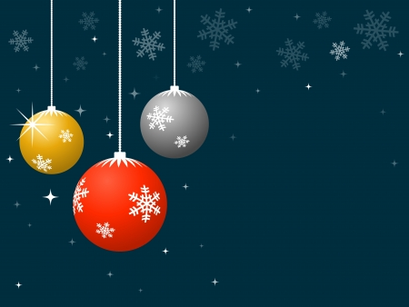 Christmas baubles with snowflake pattern