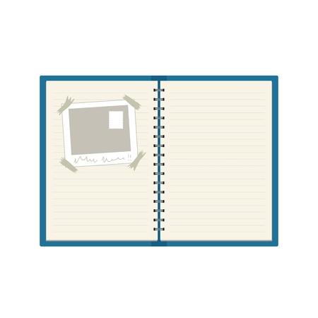 Spiral bound note book Illustration