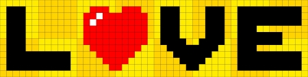 black block: Amor pixel-art 8 bits Vectores