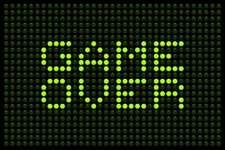 renuncia: Game over mensaje en una pantalla LED Vectores