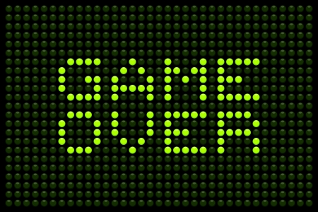 Game over message on a LED screen Illustration