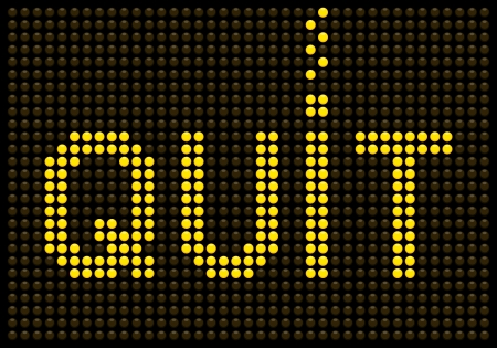 Quit smoking message on a LED screen Vector
