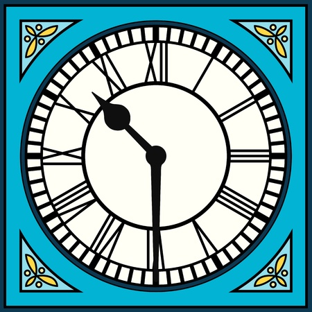 Roman Numeral Clock at Half Past Ten  Assets are separated into layers