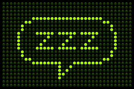 ZZZ message displayed on a green LED Board