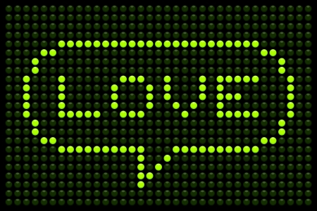 Love Message on LED Dot Matrix Display