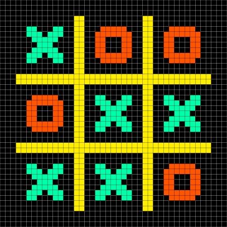 8bit: Zeri e croci gioco di stallo descritta in 8-bit pixel art