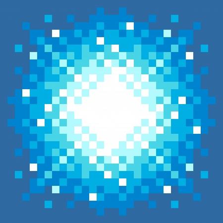 8bit: 8-Bit Pixel-Art Explosion su uno sfondo blu