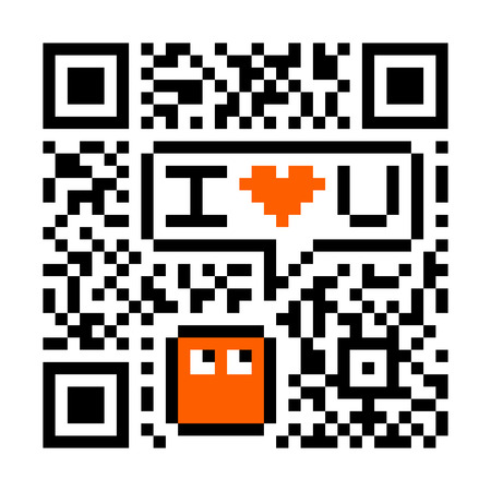 I Love You Digital Concept - Fake QR Code Vector