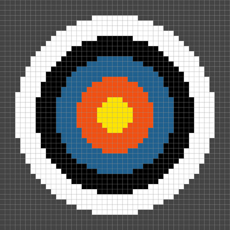 8-bit Pixel-art Round Target