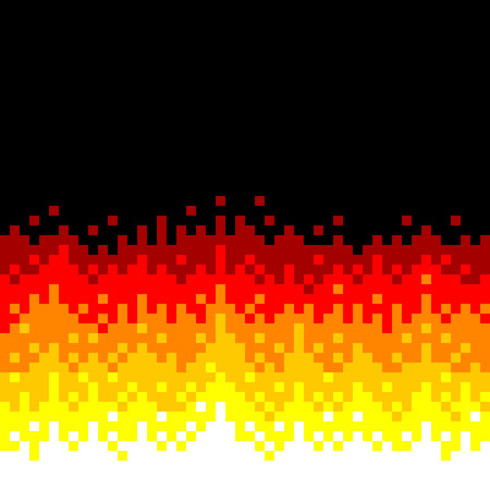 8-Bit Pixel-art Fire Background Illustration