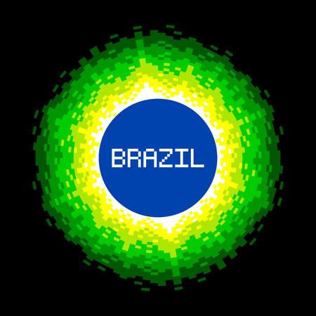 8bit: 8-Bit Pixel-art Brasile Mondo Concept.