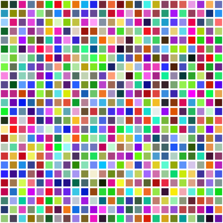 Grid of Random Colored Squares. Seamless Background. EPS8 Vector generated using a script Illustration