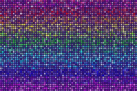 Random Rainbow Modelo de puntos inconsútil del fondo. Los colores son asignados al azar. Vector EPS8
