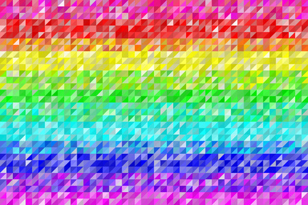 Rainbow Triangles Pattern Seamless Background. Colors are randomly assigned. EPS8 Vector Illustration