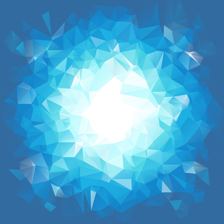 Blue triangular explosion in a low poly style. EPS8 Vector with linear gradients and no transparecies
