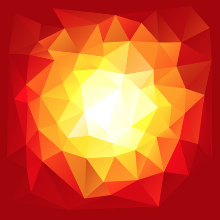 Red triangular explosion in a low poly style. EPS8 Vector with linear gradients and no transparecies