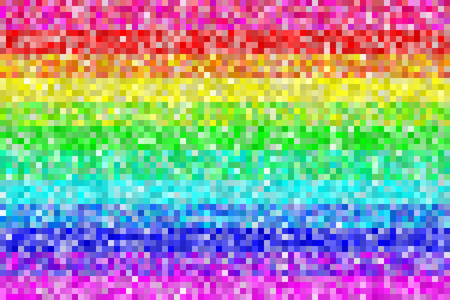 Pixel Rainbow Patters Background. Colors are randomly assigned. EPS8 Vector Фото со стока - 50995568