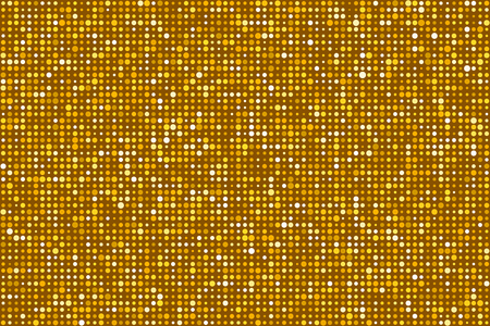 Gold Dots Pattern Seamless Background. Colors are randomly assigned. EPS8 Vector without transparency or gradients Illustration