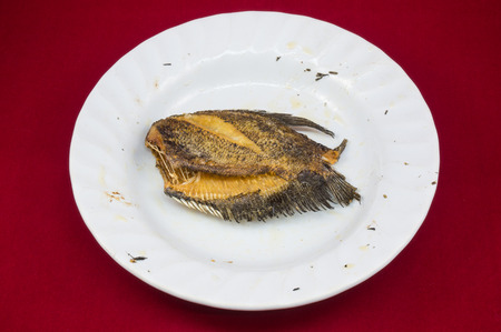 pectoralis: Fried Trichogaster pectoralis on dish