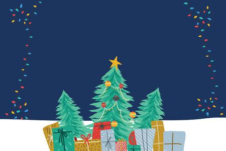 tree and gift christmas Stock Photo