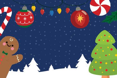 ginger christmas card